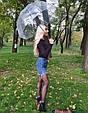 Зонт Black чёрный (прозрачный), фото 7