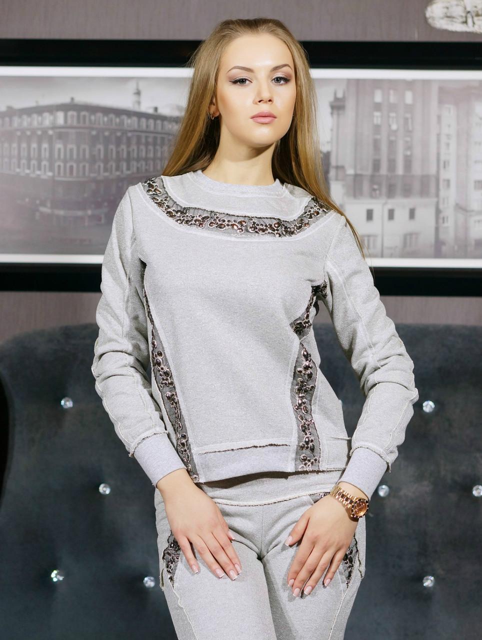 9e3707106b63a3 Спортивный костюм женский модный со стразами LS Эмми - ROMA MODA в Харькове