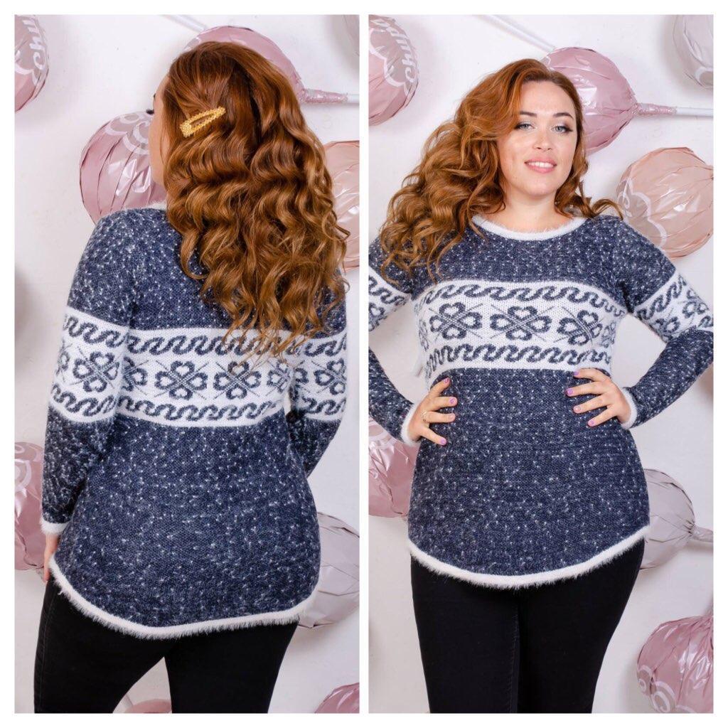 Длинный эластичный свитер (в расцветках 48-52)