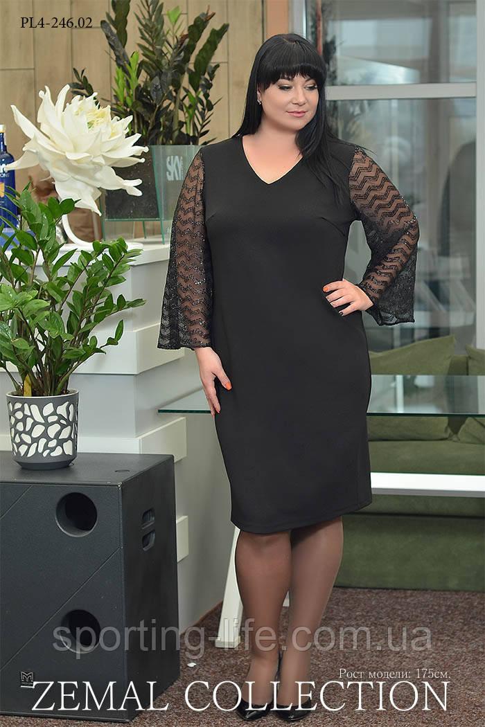 Нарядное платье большого размера ПЛ4-246.02 (р..54-64), фото 1