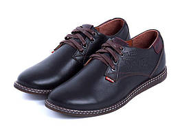 Мужские кожаные туфли реплика Levis Strauss