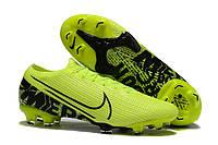 Футбольные бутсы Nike Mercurial Vapor XIII Elite FG Volt/Black, фото 1