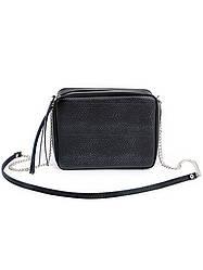 Клатч черный кожаный 6691-11
