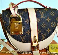 Клатч натуральная кожа канва Louis Vuitton  lux реплика