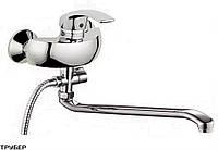 Смеситель для ванны, длинный излив, однорычажный (к.40) Potato P2103