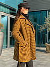 Короткое женское Пальто в клетку на утеплителе с поясом и отложный воротником 58pt253, фото 6
