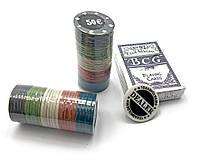 Покерный набор в блистере (колода карт,60 фишек)(24,5х12х4,5 см)(60p)