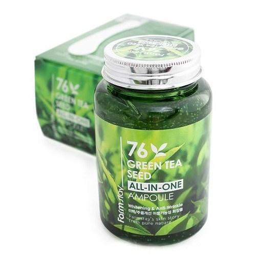 Сироватка з екстрактом насіння зеленого чаю FARMSTAY Green Tea Seed All-In-One ampoule