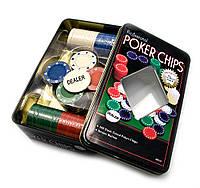Покерные фишки (100 фишек)(19,5х12х5 см)(tc04100)
