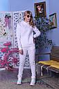 Теплый спортивный костюм из трехнитки с худи и зауженными штанами 2so808, фото 5