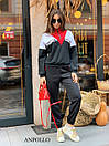 Женский спортивный костюм со свободным худи и штанами на манжетах 17so809, фото 3