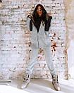 Вязаный женский теплый костюм с шерстью и кофтой на молнии 18ks322, фото 3