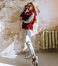 Вязаный женский теплый костюм с шерстью и кофтой на молнии 18ks322, фото 6