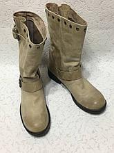 Стильные кожаные женские сапожки 38 р
