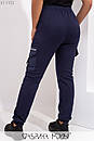 Женские штаны теплые из трехнитки в больших размерах 1ba354, фото 3