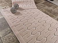 Набор ковриков для ванной комнаты с кружевами Maco lara pudra. Турция
