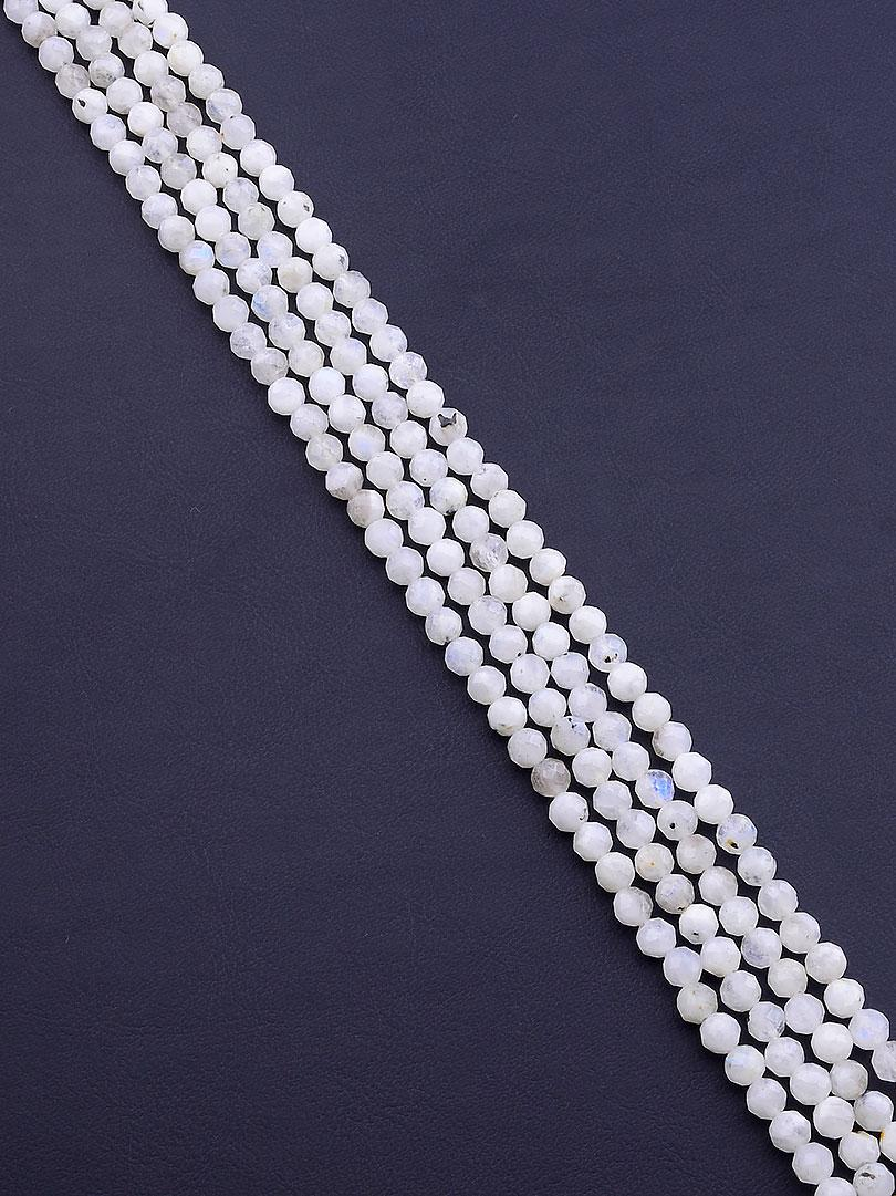 Нити из натуральных камней  Лунный камень 40 см. 5 мм. (Без замка)