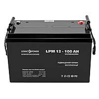 Аккумулятор свинцово-кислотный LogicPower AGM LPM 12 - 100 AH, фото 1