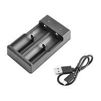 Зарядное устройство F2, универсальное, 2x14500/16340/18650/26650, USB