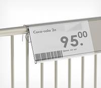 Ценникодержатель для корзин из металлических прутьев ценник