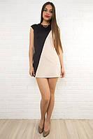 Короткое разноцветное женское платье