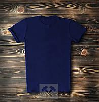 Темно-синяя мужская футболка / Футболки с надписями на заказ