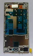 Дисплей модуль Sony Xperia Z1 C6902 C6903 C6906 C6943 в зборі з тачскріном, білий, з рамкою
