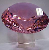 Кристалл хрустальный розовый (15см)