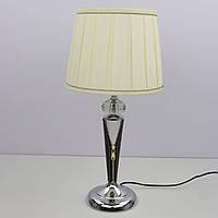 Настольная лампа с абажуром (48х23х23 см.) Черный, коричневый или белый, хром YR-T1109/1-bk