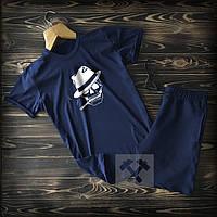 Шорты мужские и мужская футболка c черепом / Летние комплекты для мужчин
