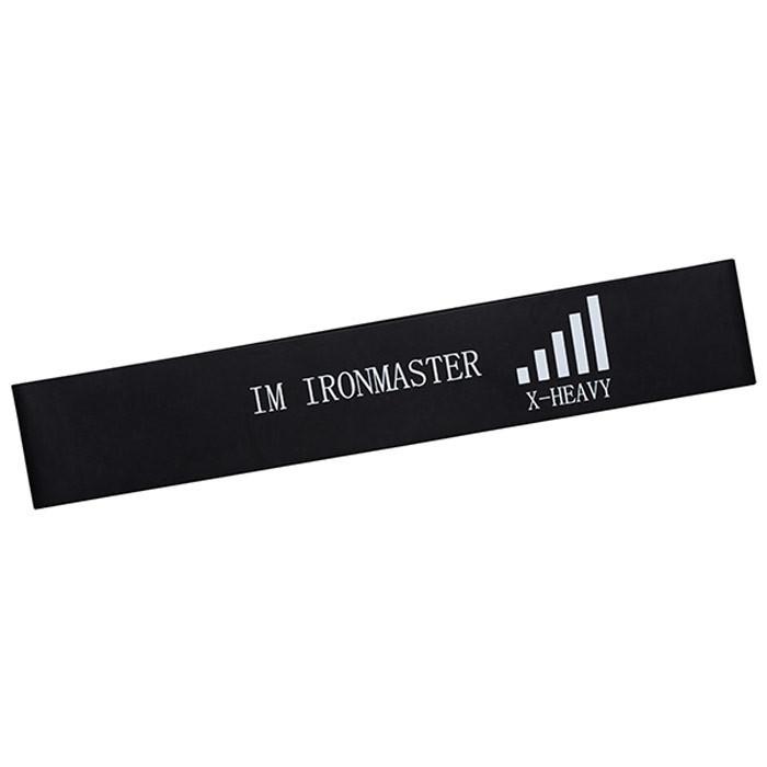 Фитнес резинка для ног,  черная, *****, очень сильная, 600*50*1,35 мм, IronMaster