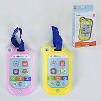 Телефон музыкальный YB 11686 (120/2) сенсорный экран, мелодии, подсветка, 2 цвета, в коробке