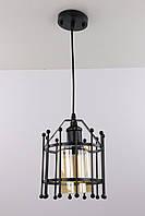 """Люстра потолочная подвесная в стиле """"LOFT"""" (лофт) (35х19х19 см.) Матовый черный или белый YR-12366/1-bk"""