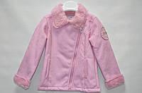 Пальто розовое, белое 6-9-12-18-24 мес. (Д)