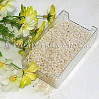 Бусины перламутровые под жемчуг, кремовые,  3 мм (5 грамм)