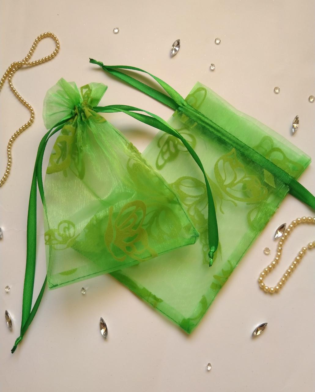 Подарочный мешочек из органзы  13 х 17 см (мешочек для упаковки, тканевая упаковка, мішечки)