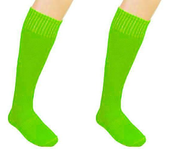 Гетры футбольные взрослые салатовые CO-5087-LG