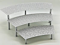 Горка фуршетная Ultra Glass GF-31 600-400 диамант