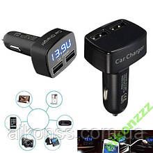LED автомобільний зарядний амперметр usb 4в1 тестер . 3,1 А