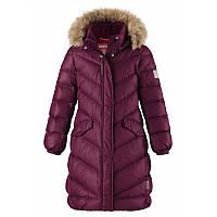 Зимнее детское пальто-пуховик для девочки Reima Satu 531352-4960 темно-бордовое