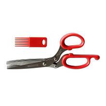 Ножницы для нарезки зелени с 5 - лезвиями+ щеточка для чистки лезвий.Fischer-Bargoin (Франция)