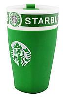 Чашка керамическая кружка Starbucks PY 023 зеленый