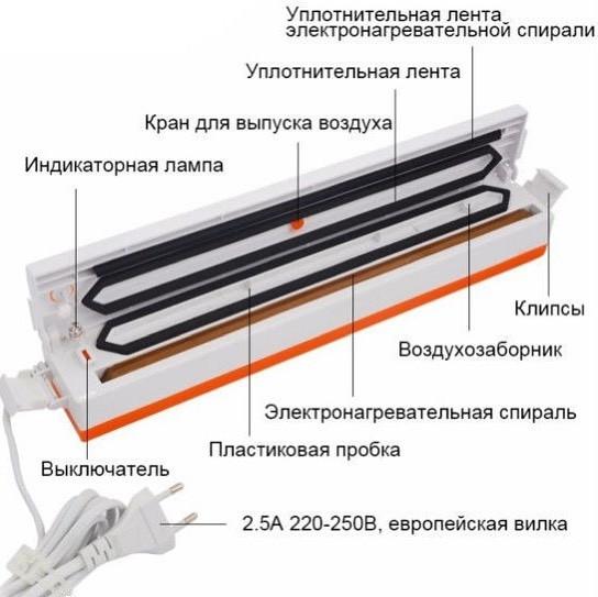 Вакууматор (вакуумный упаковщик) Freshpack Pro