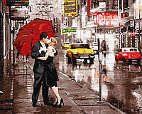 "Картина по номерам. Brushme ""Поцелуй под зонтом"" GX5003"