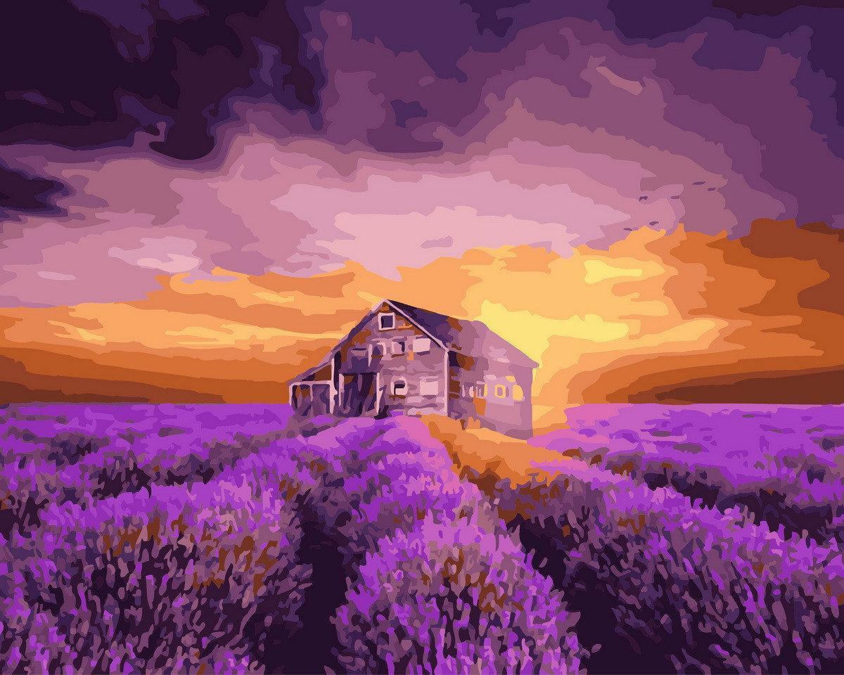 "Картина по номерам. Brushme ""Лавандовый дом"" GX29807"