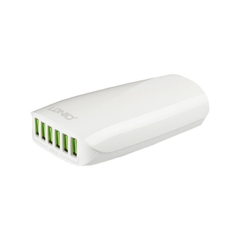 Зарядное устройство 6USB LDNIO (5.4A) White + Cable MicroUSB (DL-A6573)