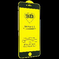 Защитное стекло 9D Full Glue для Iphone 6/6s Plus - черный
