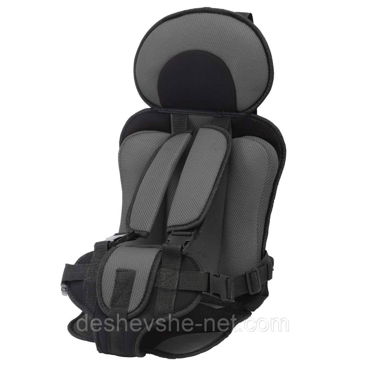 Детское бескаркасное автокресло Child Car Seat Light Black