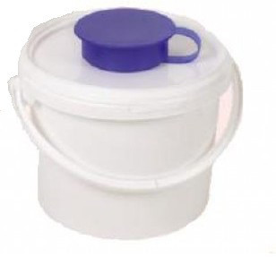 Ведро-диспенсер (3.4 л) для дезинфицирующих салфеток в рулонах. AMPri (Германия)
