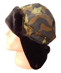 Шапка-ушанка зимняя черный мех Sky Fifh британец